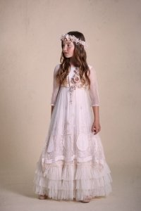 Vestidos de comunion bordados