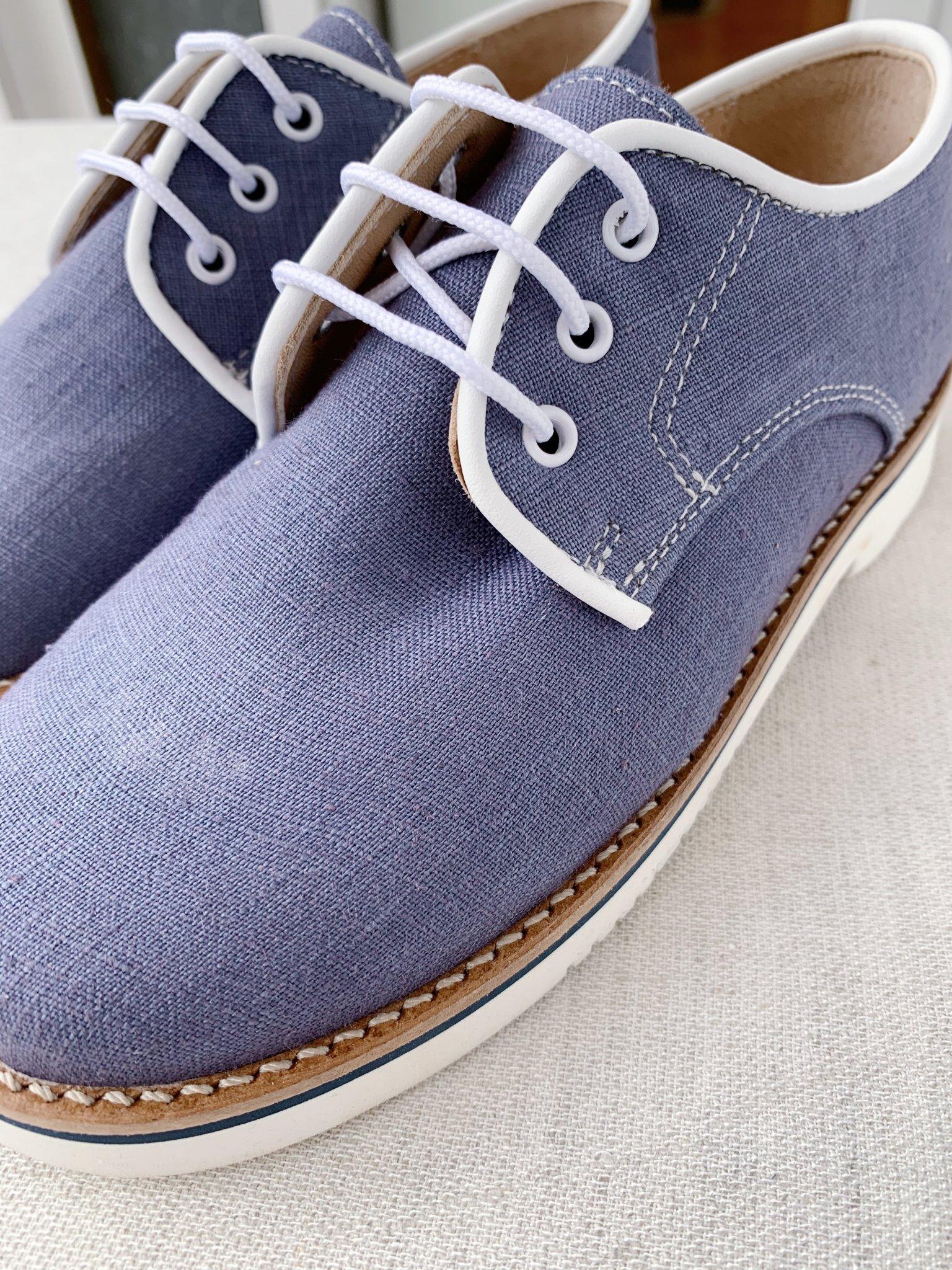 Zapato comunion niño azul